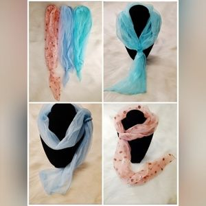 Vintage neck or head scarves